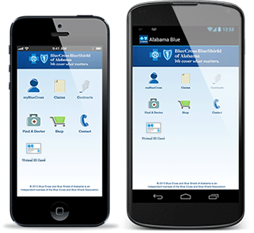 AlabamaBlue Mobile App is available for Android and iOS devices.
