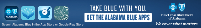 View your claim statements on the go with our Alabama Blue App. Click here to learn more.